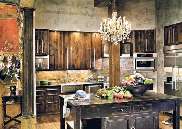 10 astuces pour cr er une cuisine rustique - Creer une cuisine ...