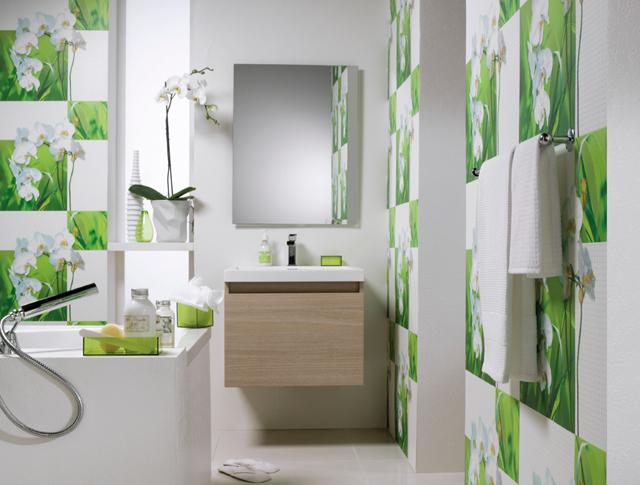 Papiers peints pour une salle manger industrielle - Papier peint salle de bain zen ...