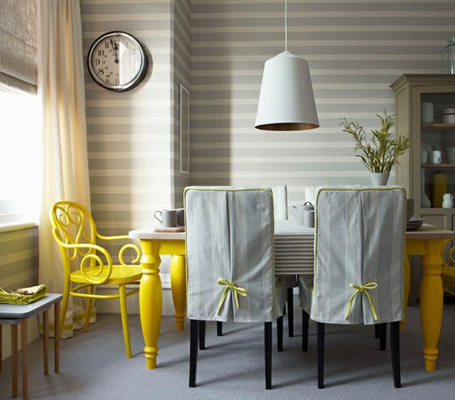 Une salle manger design aux bouts des l vres for Salle a manger jaune