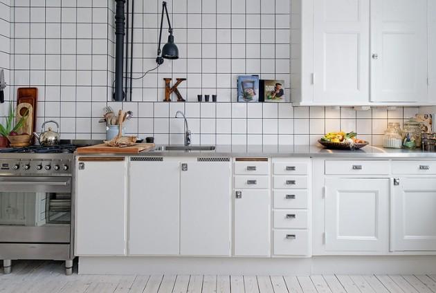15 id es multicolores pour cr er une cuisine moderne l for Cuisine blanche retro