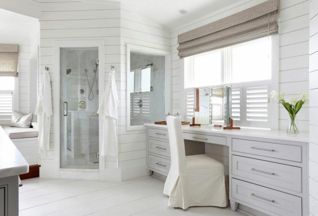 Ameublement de salle de bain rideaux ou parois originaux design feria for Salle de bain ou salle de bains