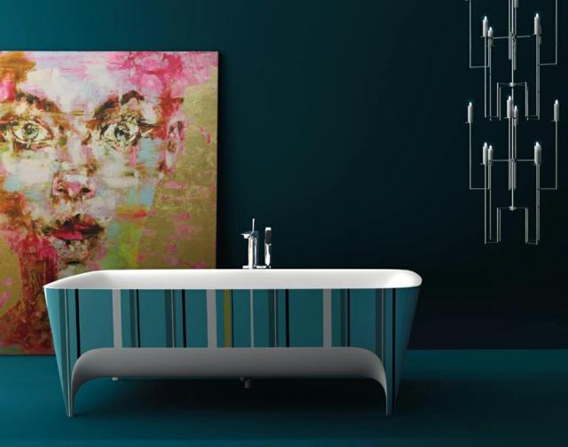 Baignoire ancienne pour une salle de bains retro design - Peut on repeindre une baignoire ...