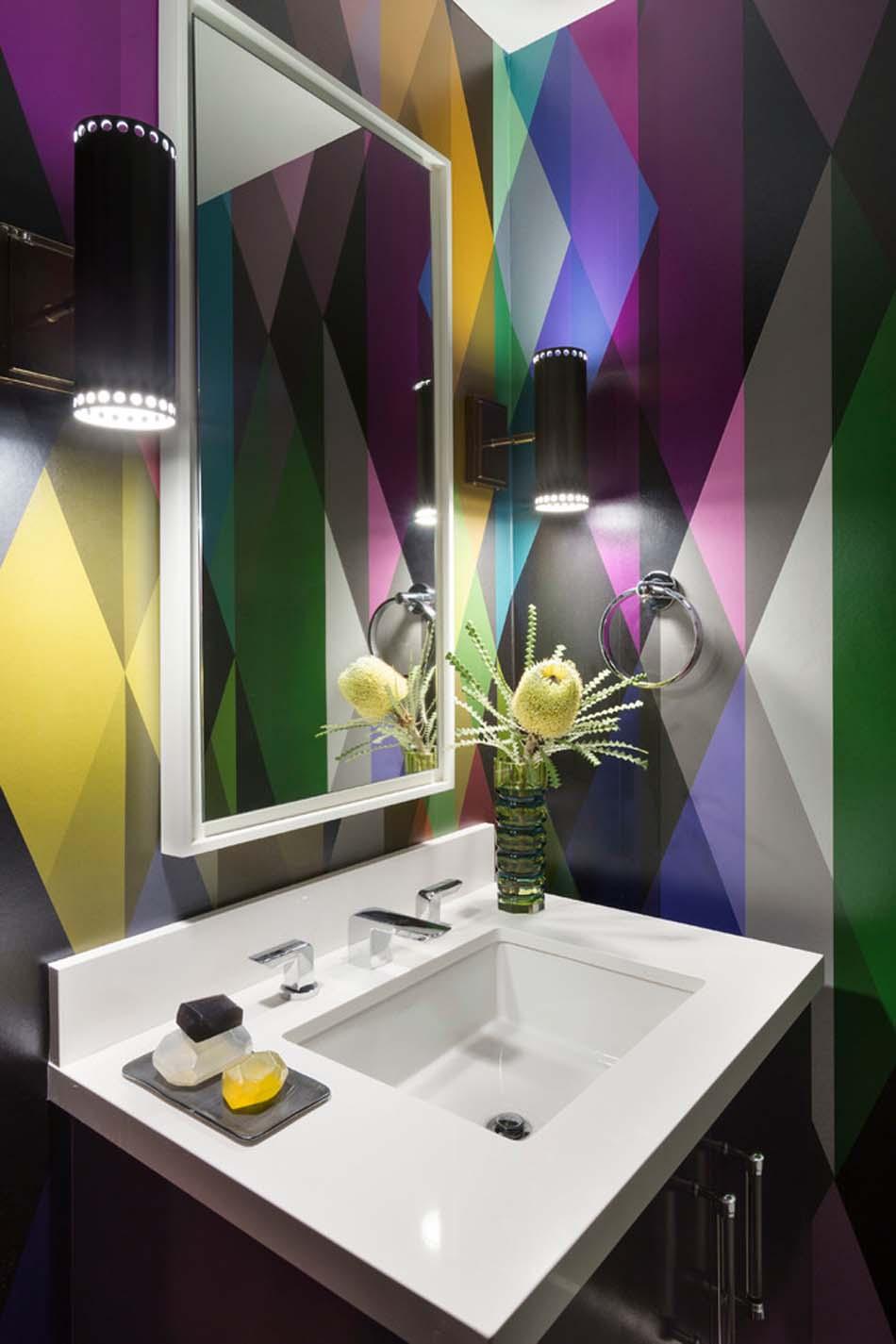 Idee Papier Peint Wc idées de décoration inspirantes pour rendre nos toilettes