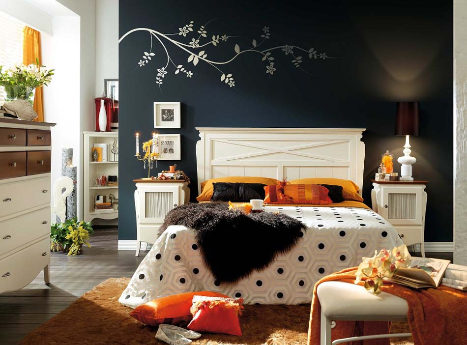 chambre d co clectique au caract re bien tremp design feria. Black Bedroom Furniture Sets. Home Design Ideas