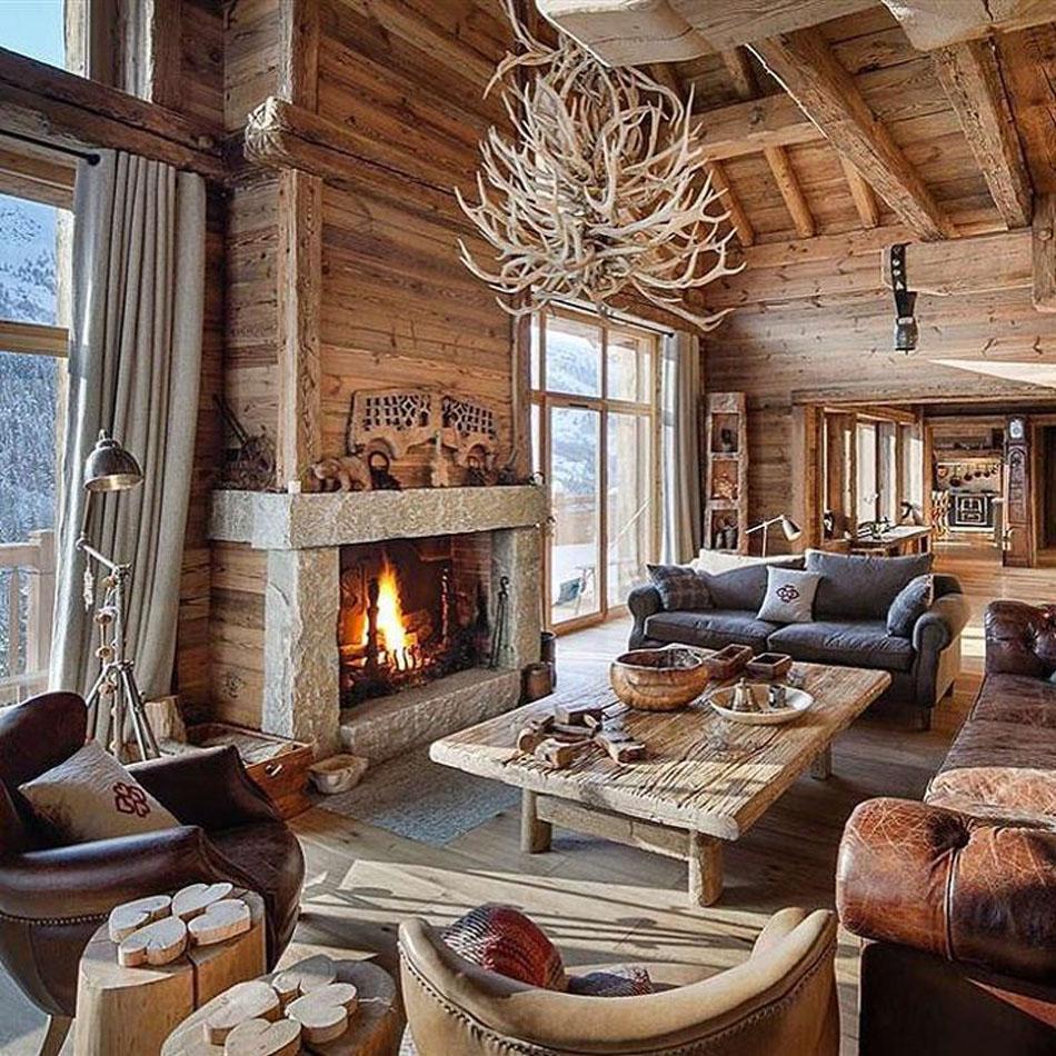L int rieur bois rustique garantie pour la chaleur et le for A l interieur d une maison