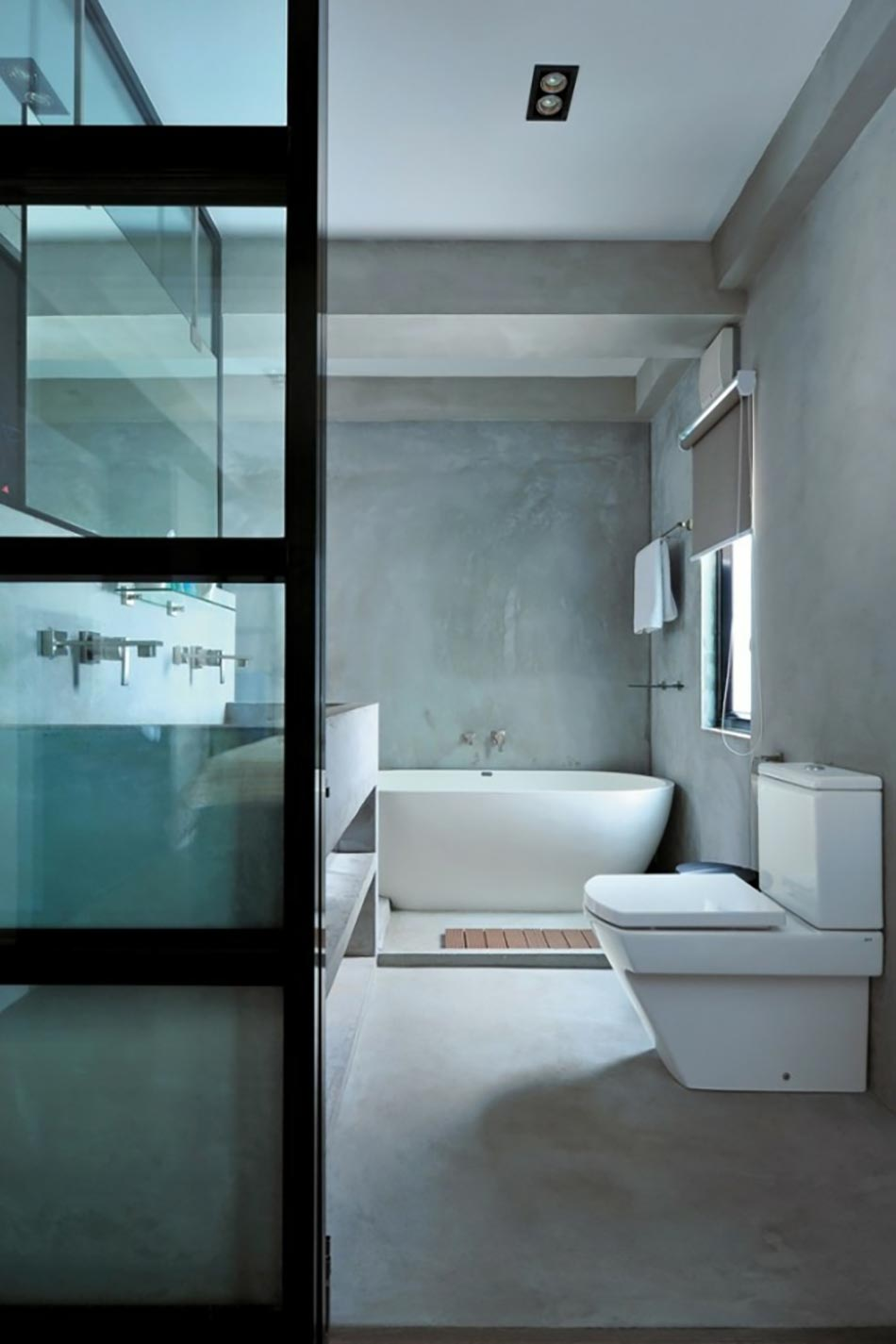 16 id es b ton pour des salles de bain design for Salle de bain ums