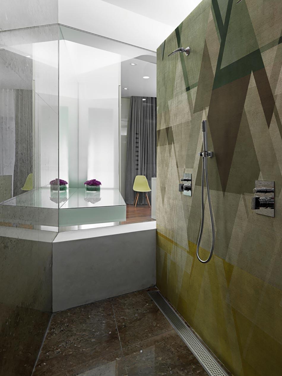 Papiers peints cr atifs pour une salle de bain design for Papier peint salle de bain saint maclou