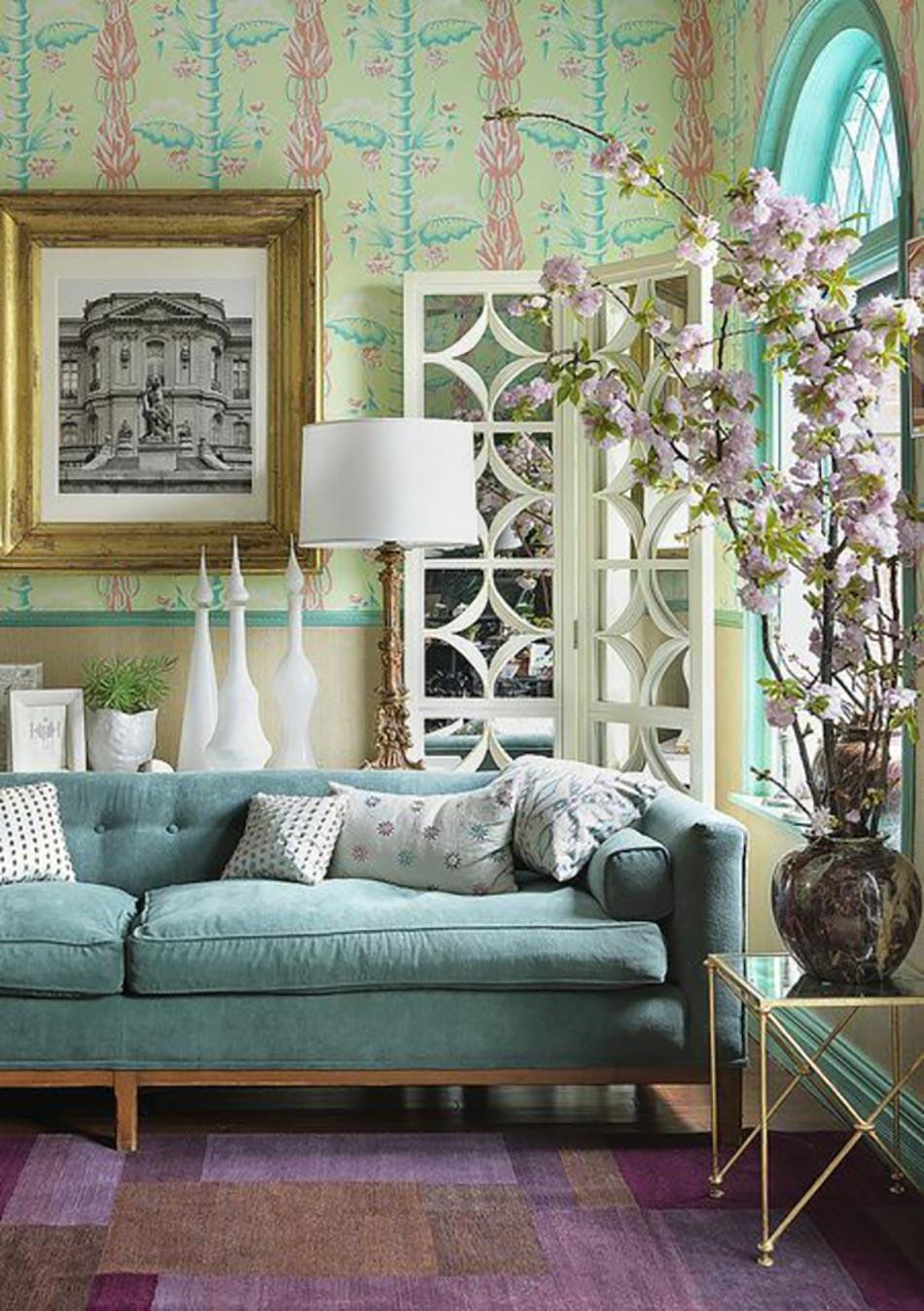 Dessin De Maison Deco Interieure : Séjour en couleurs sympa pour une ambiance deco maison