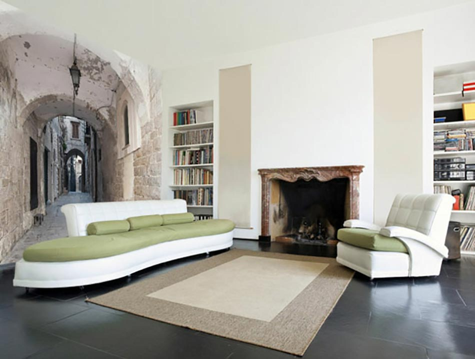 photos bild galeria papier peint trompe l oeil. Black Bedroom Furniture Sets. Home Design Ideas