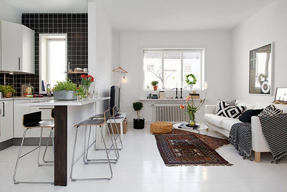 Meuble design dans un s jour scandinave design feria for Meuble pour petit salon
