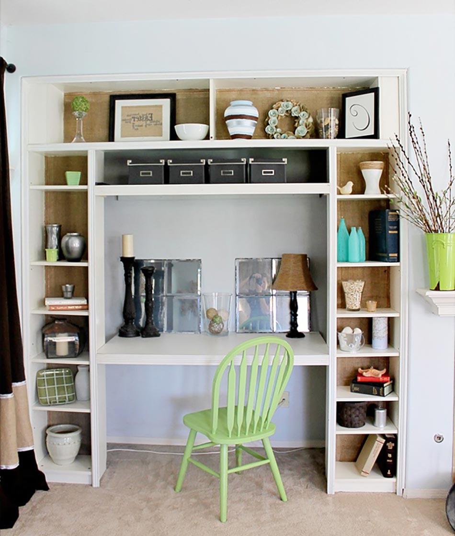 Les tag res en tant que mobilier de bureau cr atif - Bureau avec etagere integree ...