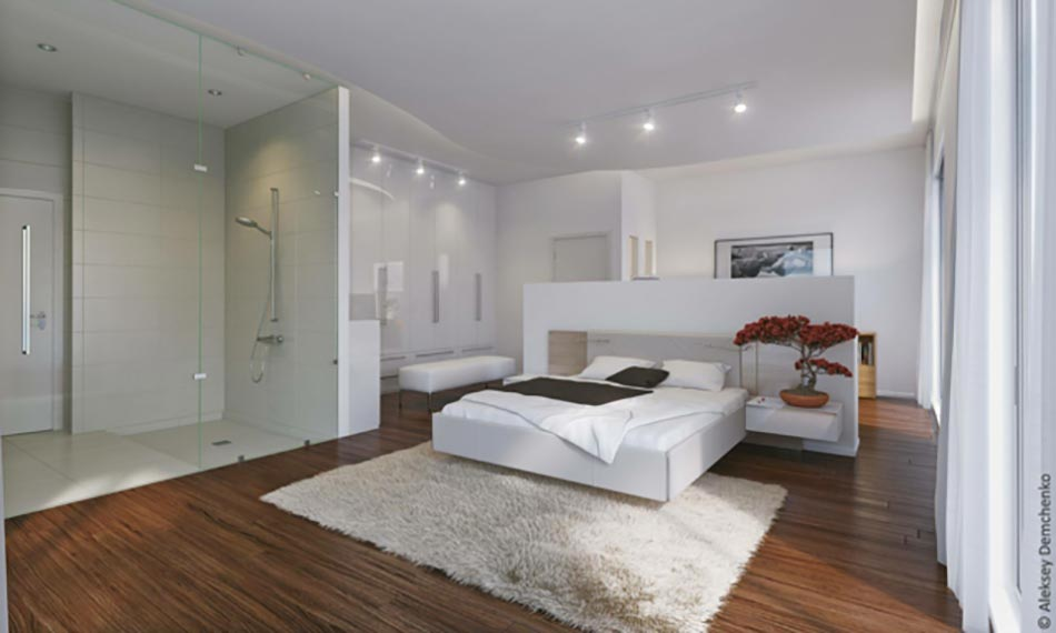 Lumi re sur la chambre design moderne for Chambre moderne design