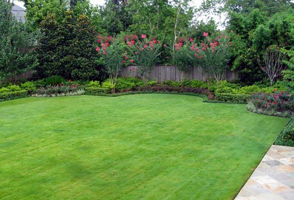 les jardins aux plates bandes fleuries On jardin f