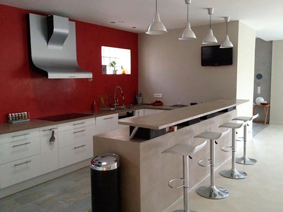 Le b ton ou la griffe tendance du design contemporain for Beton cire mur cuisine