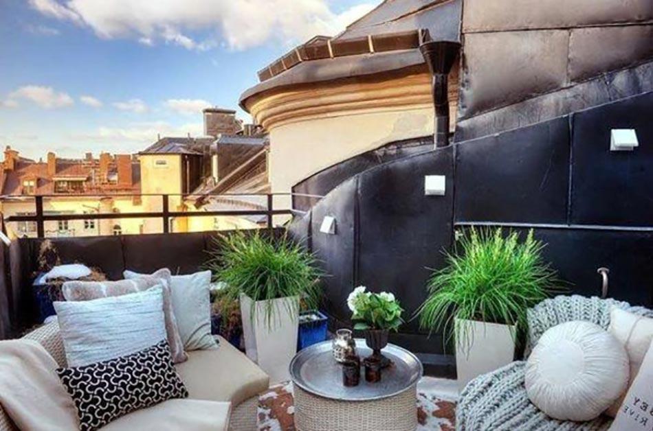 Petits balcons de ville l inspiration nordique - Petit jardin balcon ...