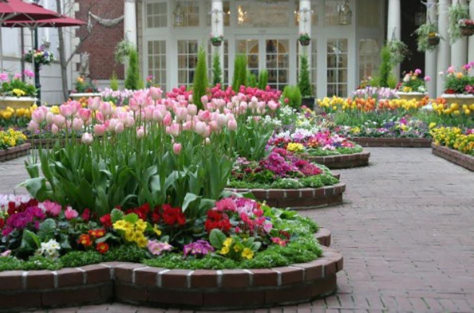 Les jardins aux plates bandes fleuries - Decoration de fleurs ...