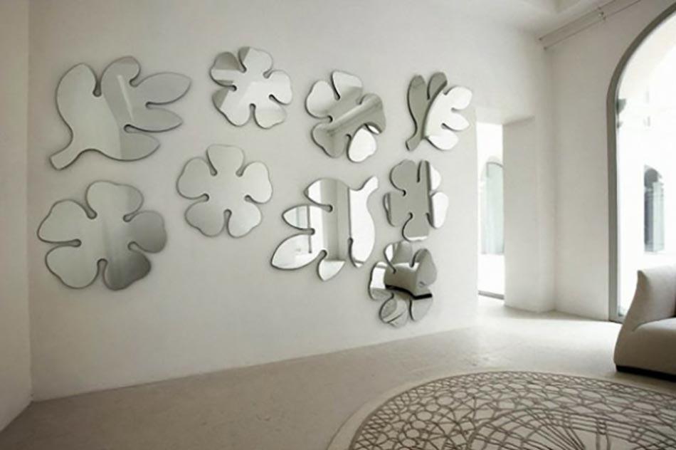 Beau Miroirs Design En Forme De Feuilles