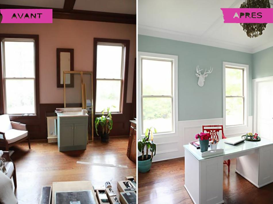 Avant apr s un bureau la maison qui respire la lumi re - Renovation maison ancienne avant apres ...