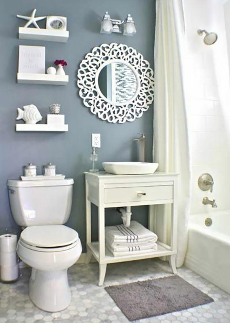 Coquillage deco salle de bain for Decoration salle de bain photos