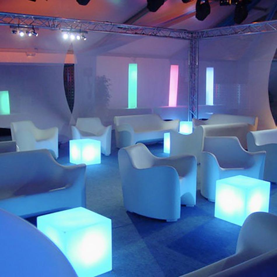 Elegant Slide Tabouret Lumineux Cubo Indoor