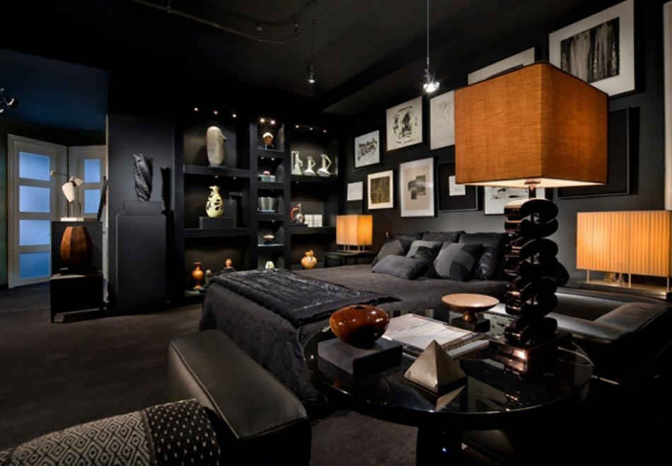 d coration salon sombre. Black Bedroom Furniture Sets. Home Design Ideas