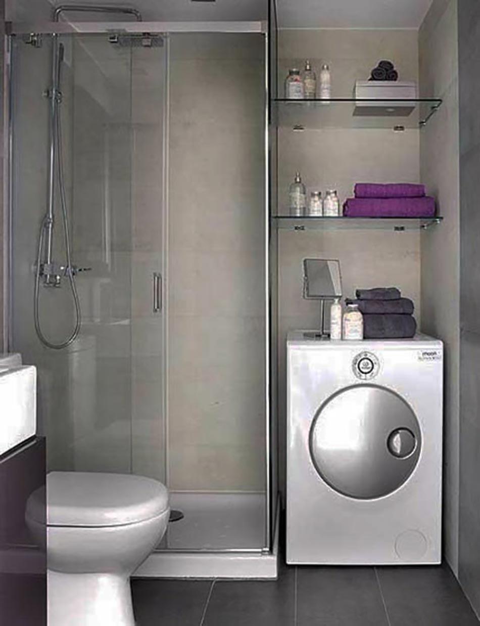 salle de bain design fonctionnel - Mini Salle De Bain Design