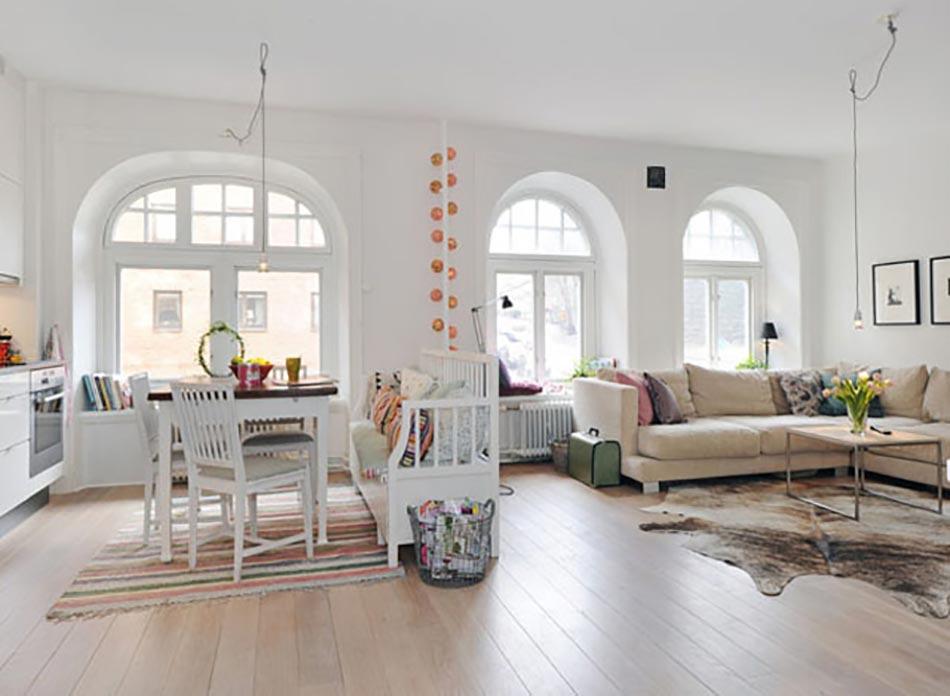 Meuble design dans un s jour scandinave design feria for Meuble salle sejour