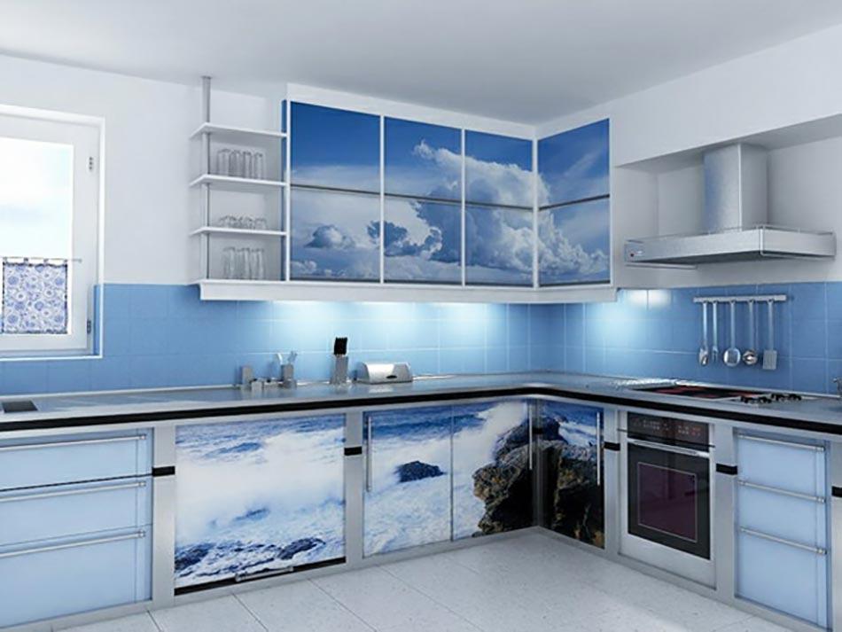 une cuisine en bleu inspir e par la mer