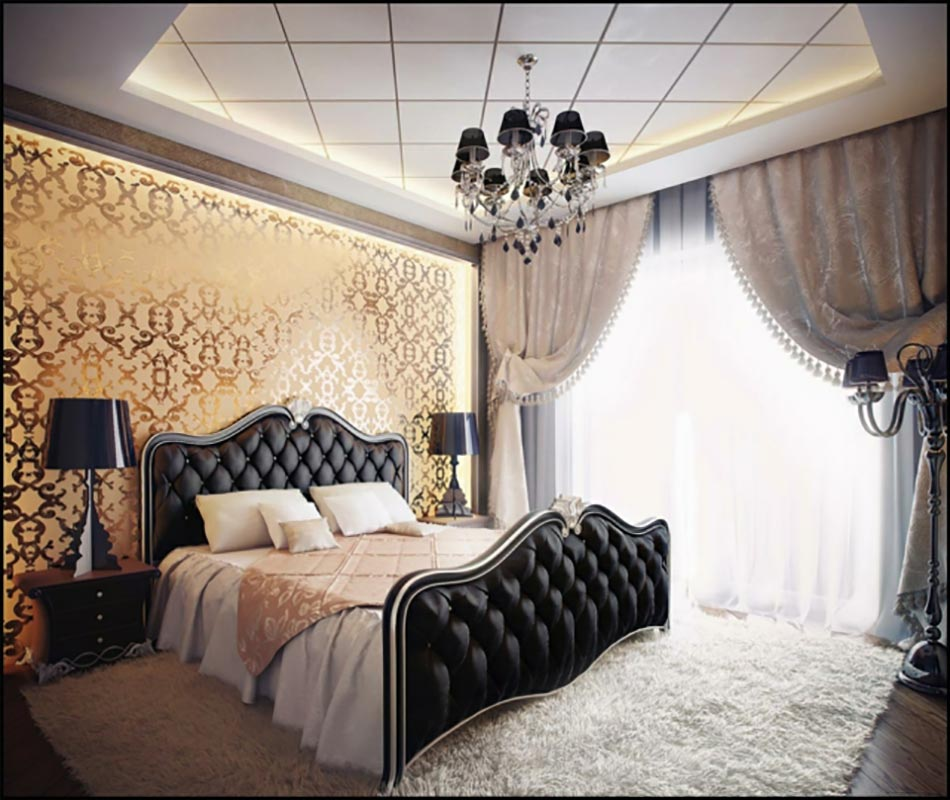 lumi re sur la chambre design moderne. Black Bedroom Furniture Sets. Home Design Ideas