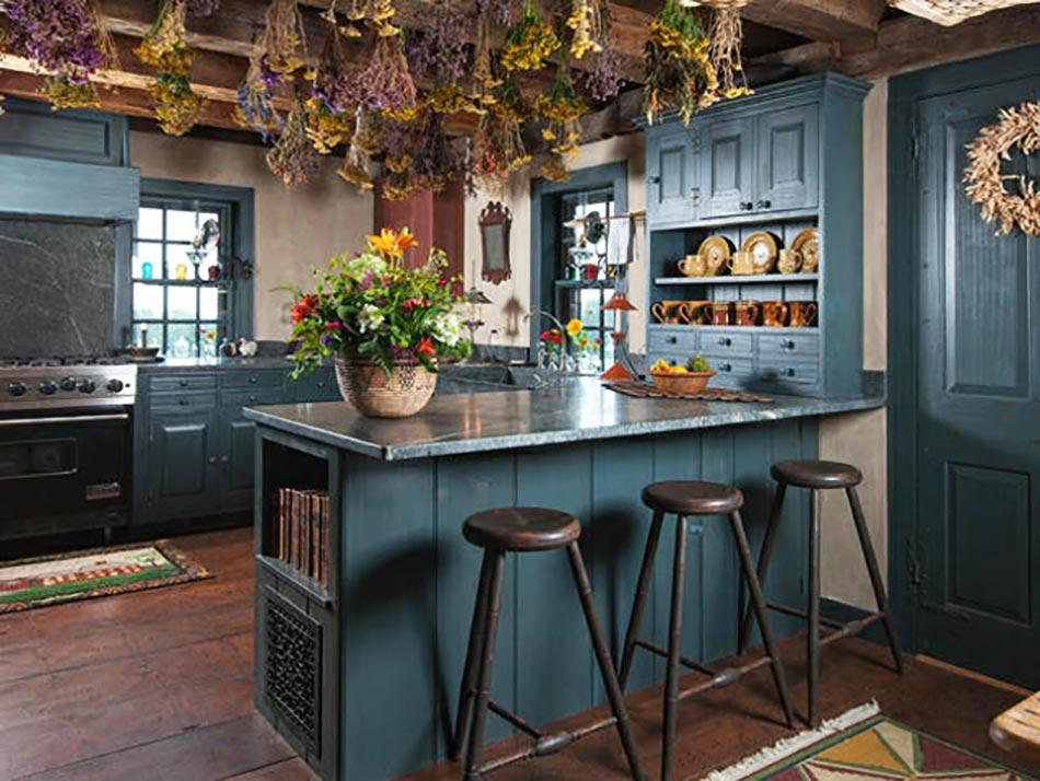 Une cuisine en bleu inspir e par la mer for Bleu petrole cuisine