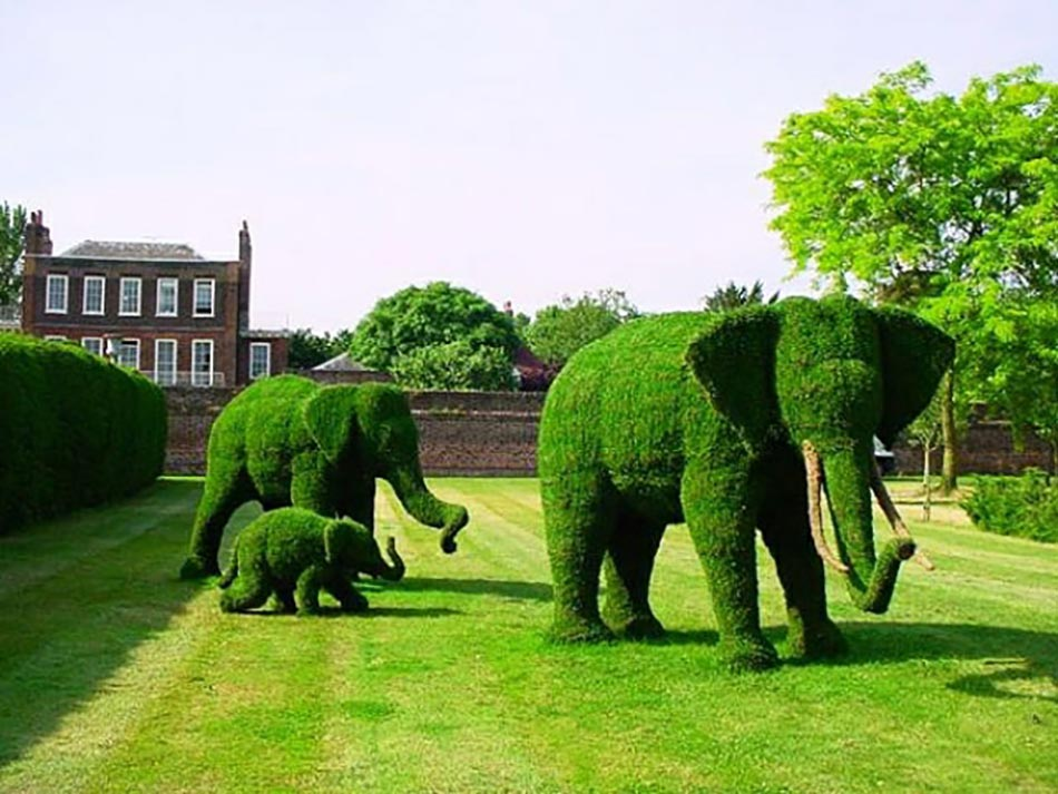 18 exemples d art topiaire inspir s par les personnages de for Decoration de jardin