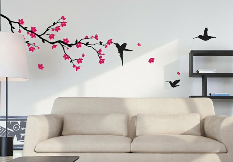 20 stickers muraux art d co qui illumineront vos pi ces - Stickers branche d arbre ...