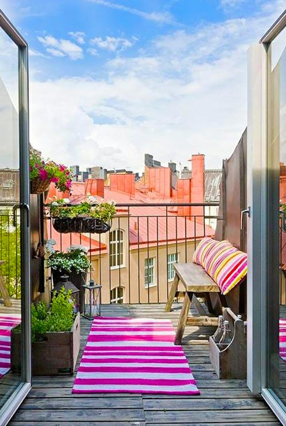 Petits balcons de ville l inspiration nordique for Amenager son jardin rustica