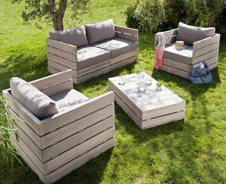 Les palettes en tant que mobilier de jardin cr atif for Mobilier de jardin jardin