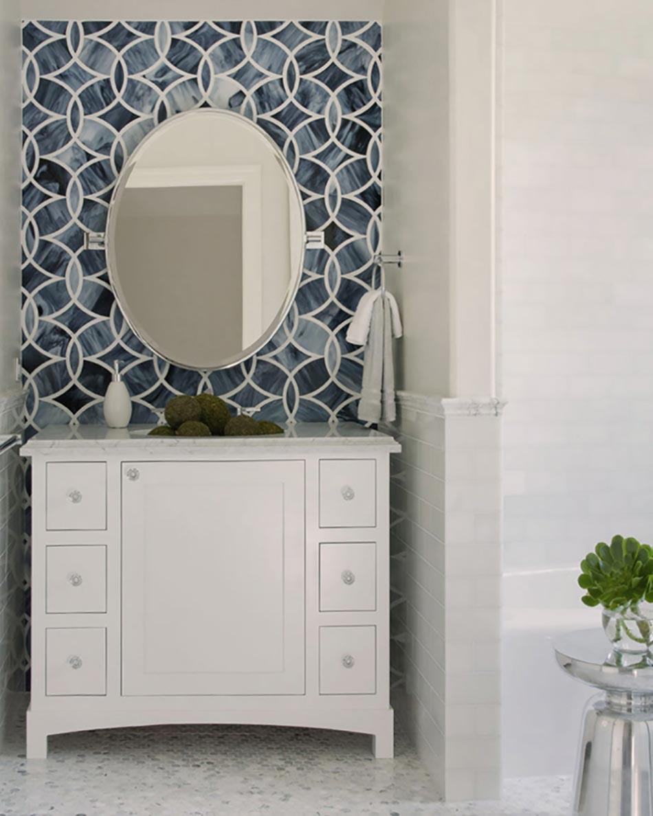 Superbe Mobilier Pour Une Salle De Bain Design En Blanc