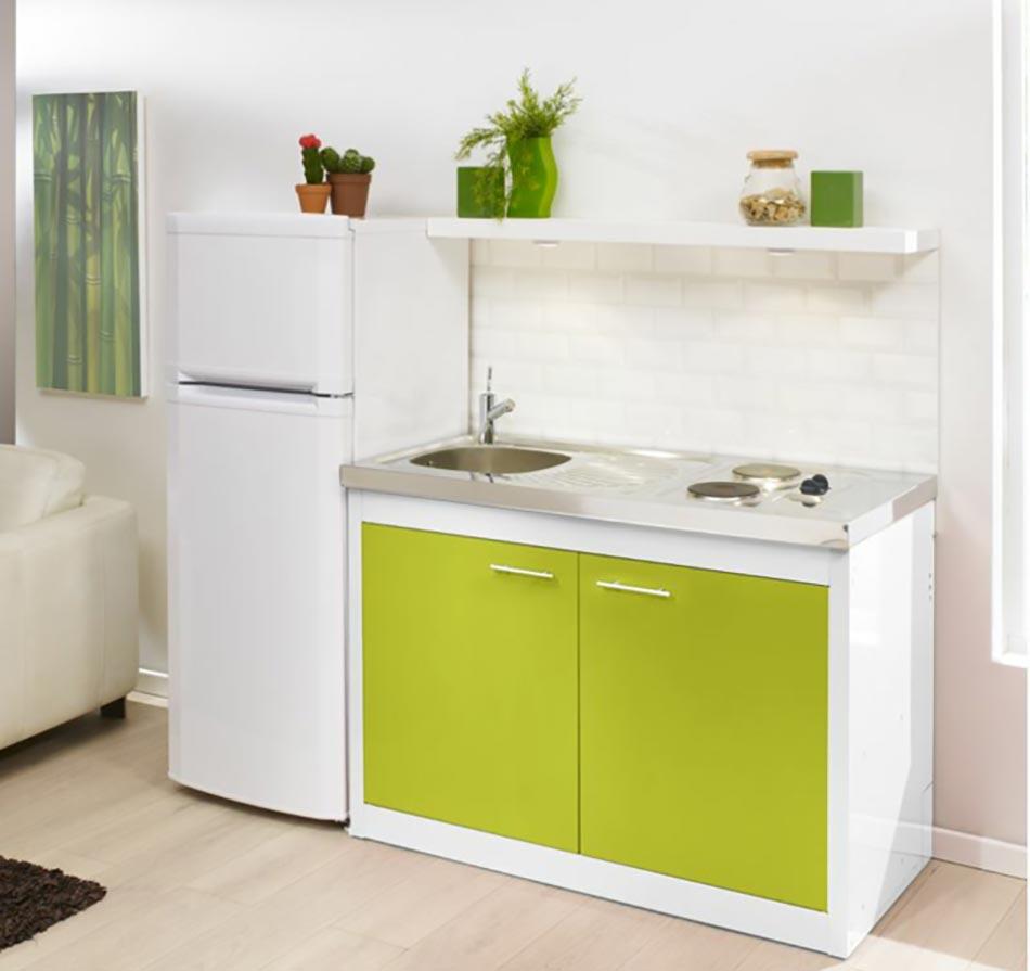 La kitchenette moderne quip e et sur optimis e - Cuisine kitchenette ...