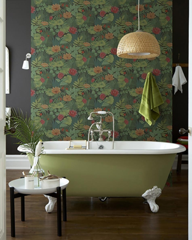 Papiers peints cr atifs pour une salle de bain design - Salle de reunion avec design original enidees creatives ...