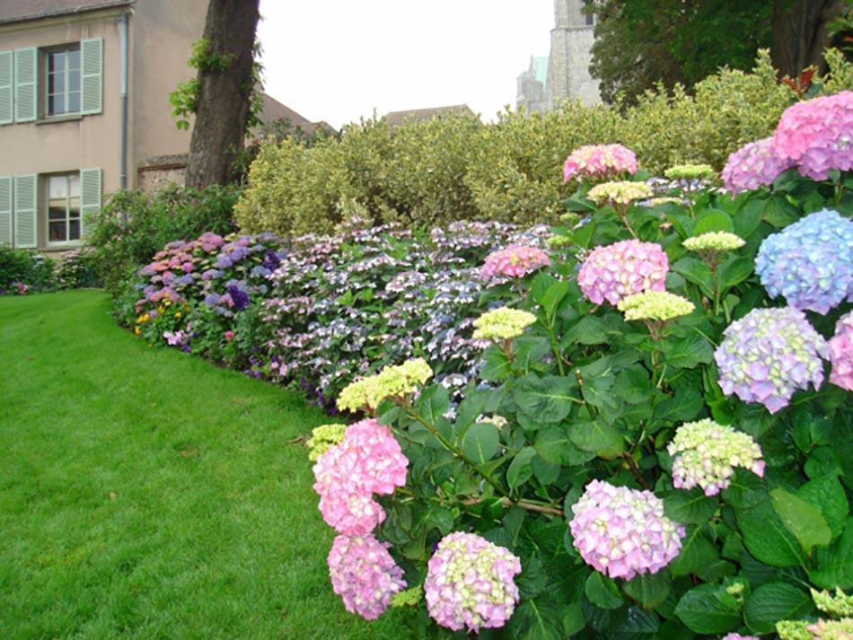 Attrayant Plate Bande De Fleurs Décorative