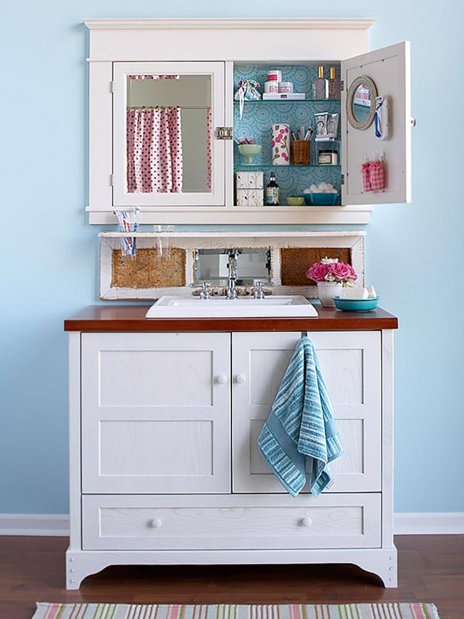 astuces int ressantes de rangement salle de bain design feria. Black Bedroom Furniture Sets. Home Design Ideas