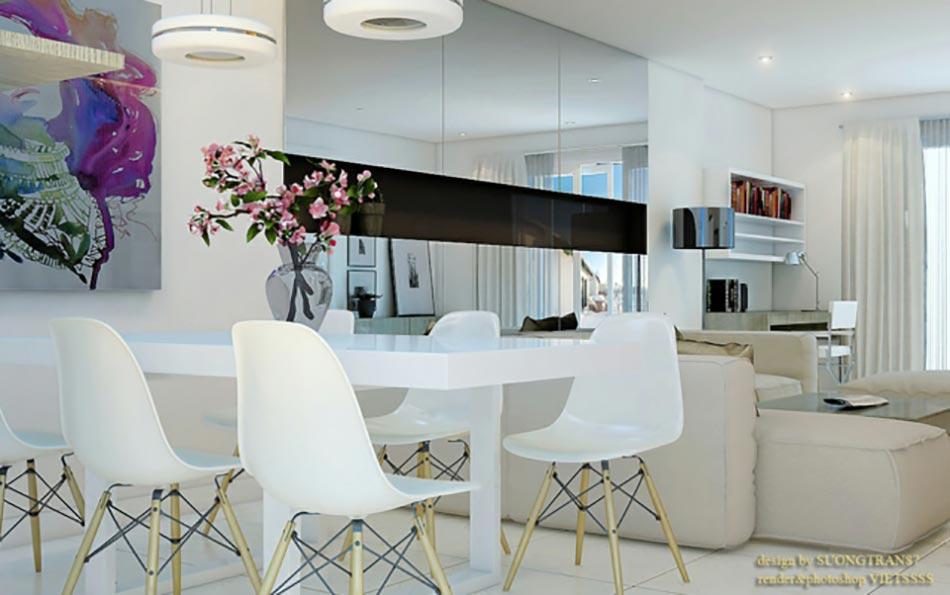 Une salle manger design aux bouts des l vres - Cuisine et salon dans la meme piece ...