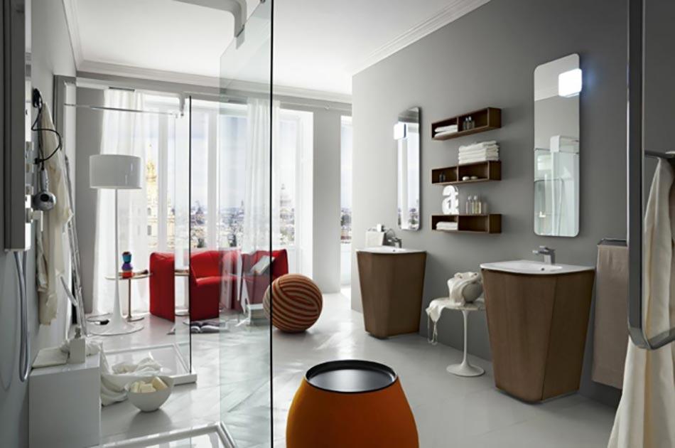 Cerasa ou la salle de bain d une nouvelle g n ration - Salle de bain en rouge ...