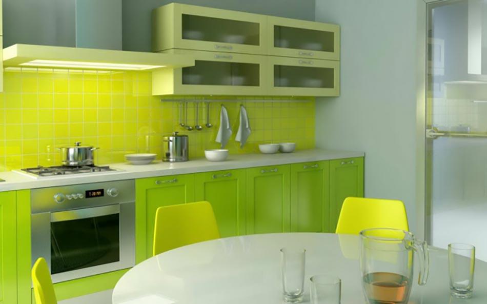 Cuisine peinte en jaune : Quand notre cuisine design se met au vert