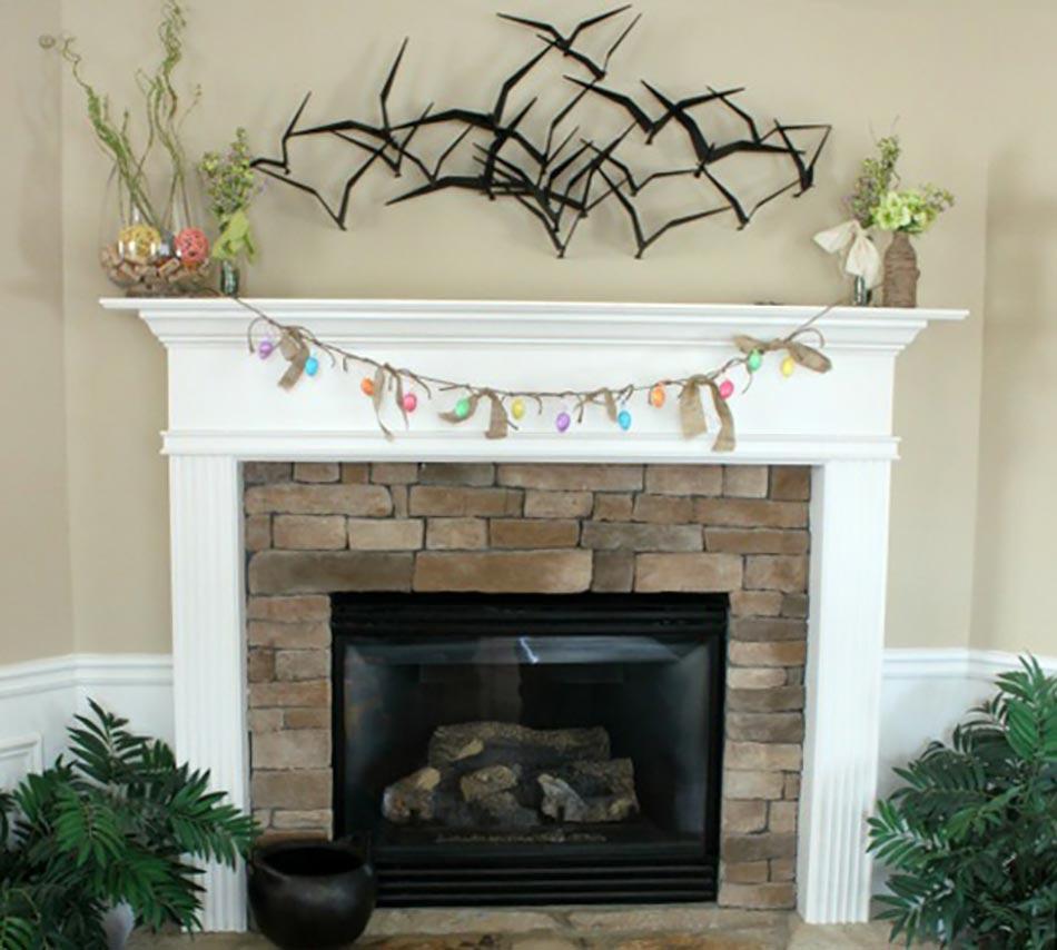 Dcoration dessus chemine deco cheminee the best chemine - Idees originales de noel de la chambre a la cheminee ...
