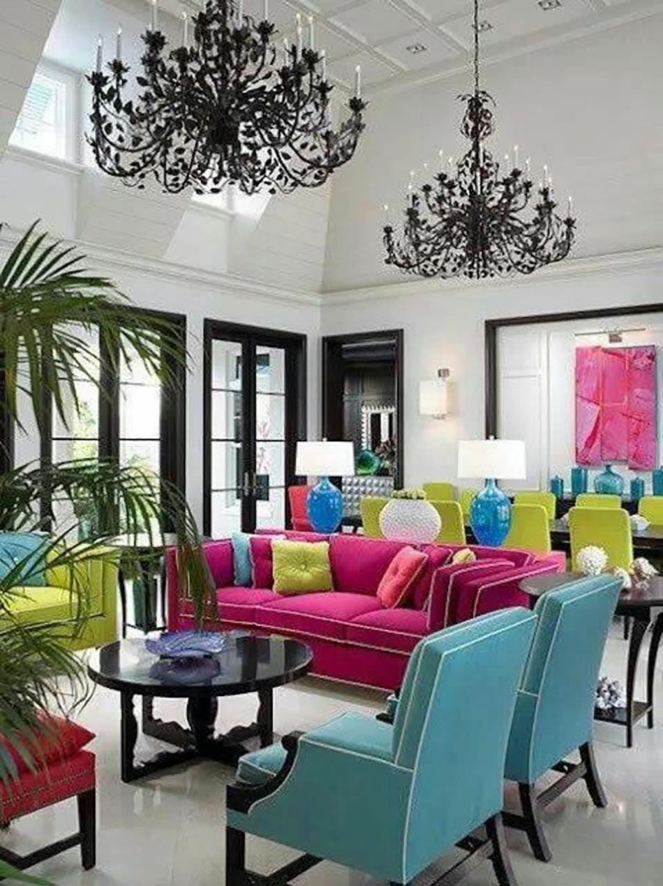 S jour en couleurs sympa pour une ambiance deco maison unique design feria - Deco maison original ...