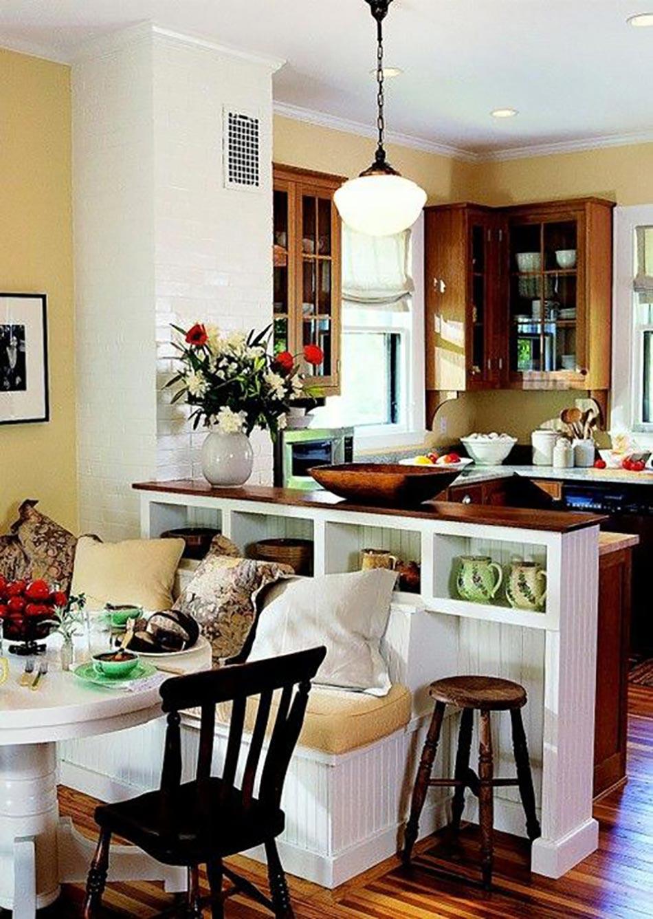 Id es d co pour une petite cuisine ouverte design feria for Dining room half wall ideas