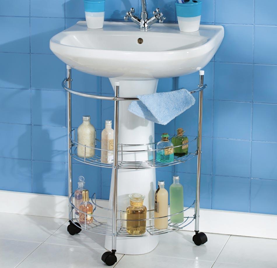 Astuces int ressantes de rangement salle de bain design for Rangement petit espace salle de bain