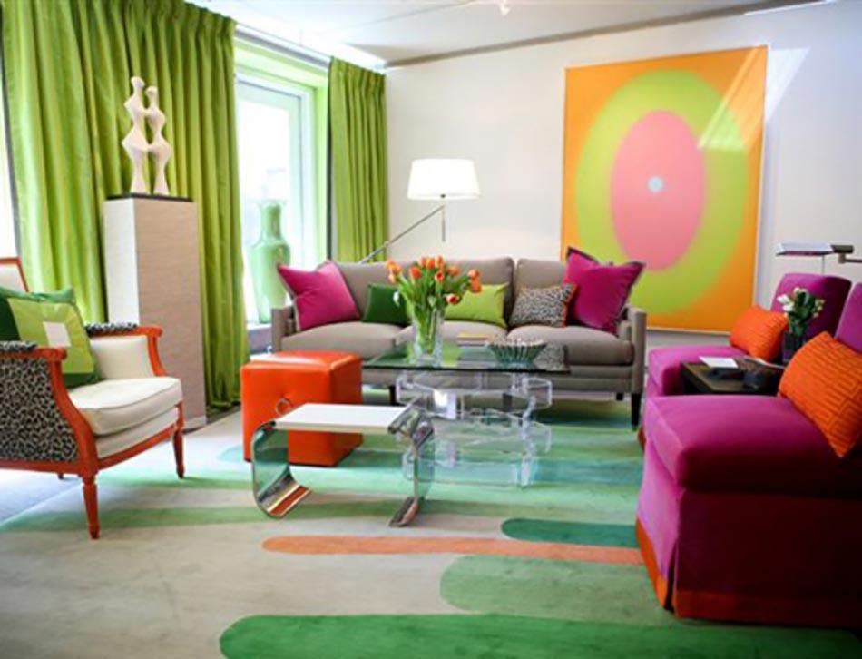 d co salon rideau vert. Black Bedroom Furniture Sets. Home Design Ideas