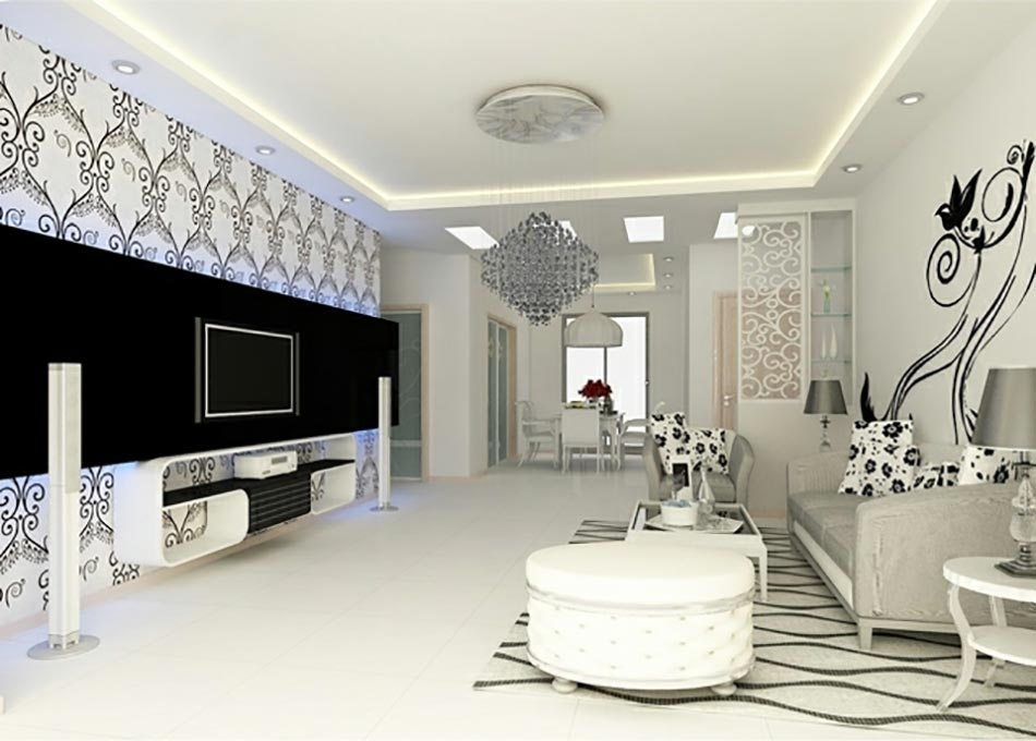 Salon design aux allures d co clectiques for Salon style contemporain