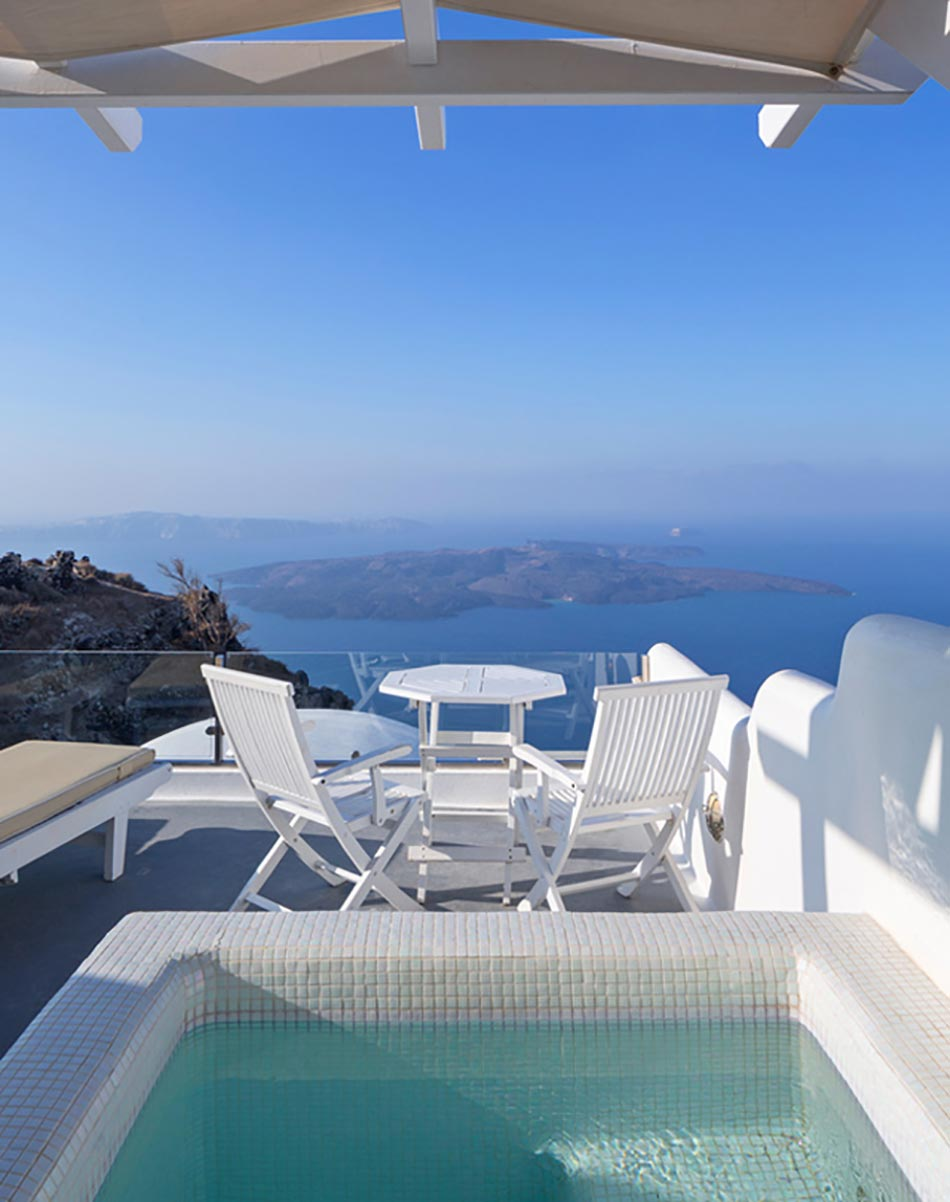 Hotel piscine privee santorin - Chambre d hotel avec piscine privative ...