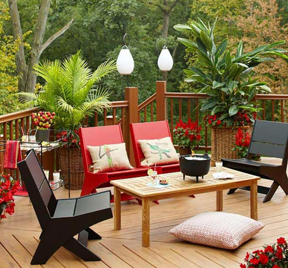 Le patio ou l'aménagement extérieur de ville